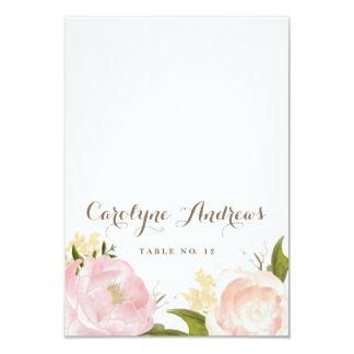 Romantische Watercolor-Blumen, die Platzkarte 8,9 X 12,7 Cm Einladungskarte