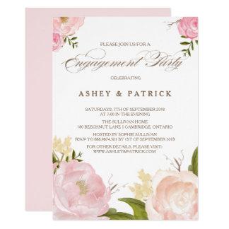 Romantische Watercolor-Blumen-Verlobungs-Einladung 12,7 X 17,8 Cm Einladungskarte