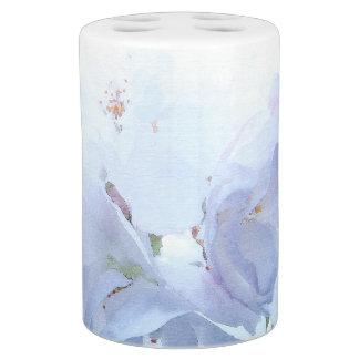 Romantische weiße Frühlings-Blume blüht mit Blumen Badezimmer-Set