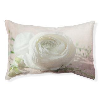 Romantische weiße Rose Haustierbett