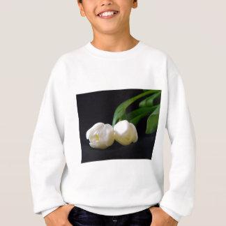 Romantische weiße Tulpen Sweatshirt