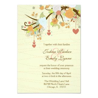 Romantische wunderliche Blumen + die wedding 12,7 X 17,8 Cm Einladungskarte