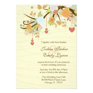 Romantische wunderliche Blumen + die wedding Personalisierte Ankündigungskarten