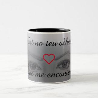 Romantischer Becher Zweifarbige Tasse