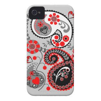 Romantischer Blumenpaisley Retro iPhone 4 Fall iPhone 4 Case-Mate Hülle