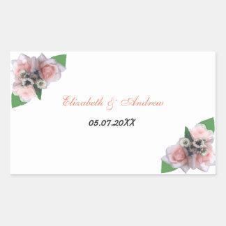 Romantischer drei rosa Rosen Blumenchic Aufkleber