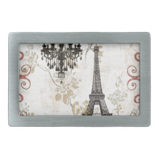 Romantischer Fall-Herbst verlässt Turm Paris Rechteckige Gürtelschnallen
