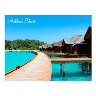 Romantischer Feiertag Malediven-Insel durch Postkarte