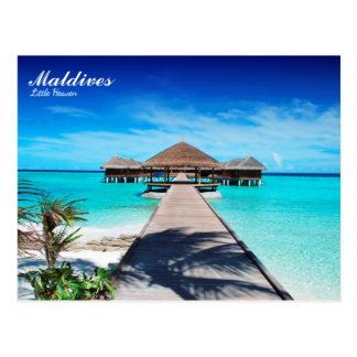 Romantischer Feiertag Malediven-Insel Postkarte