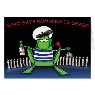 Romantischer Frosch Grußkarte