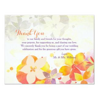 Romantischer Garten-Blumenhochzeit danken Ihnen 10,8 X 14 Cm Einladungskarte