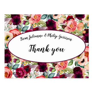 Romantic Garden Floral Wedding Thank you