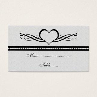 Romantischer Herz-Wirbel, der Platzkarte Wedding Visitenkarte