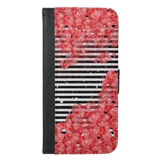 Romantischer Liebe-Entwurf iPhone 6/6s Plus Geldbeutel Hülle