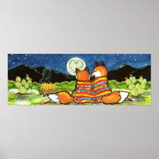 Romantischer LiebeFox Foxes Poster