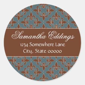 Romantischer Lilien-Adressen-Aufkleber Runder Aufkleber
