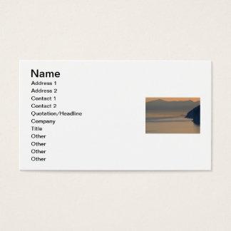 romantischer Naturozean der Reise-Agentferien Visitenkarte