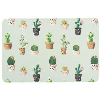 Romantischer niedlicher saftiger Kaktus auf Bodenmatte