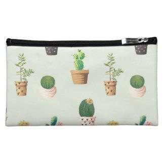 Romantischer niedlicher saftiger Kaktus auf Cosmetic Bag