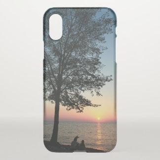 Romantischer Paar-Sonnenuntergang-Strand iPhone X iPhone X Hülle