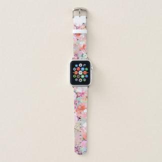 Romantischer rosa aquamariner apple watch armband