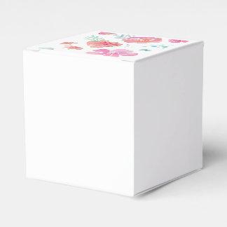 Romantischer rosa Mit Blumenwatercolor cool u. Geschenkschachtel