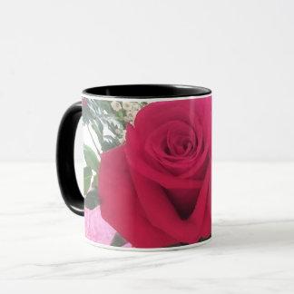 Romantischer Rosen-Druck Tasse