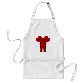 Romantischer roter Elefant Schürze