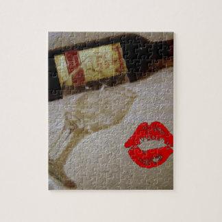 Romantischer Rotweingläser I des Kusses Liebe-Wein Puzzle