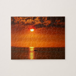 Romantischer Sonnenuntergang beim Bodensee - Puzzle