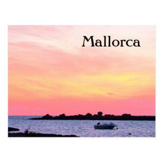 Romantischer Sonnenuntergang Mallorca - Postkarte