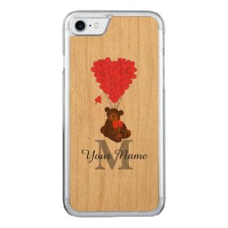 Romantischer Teddybär des Spaßes Carved iPhone 8/7 Hülle