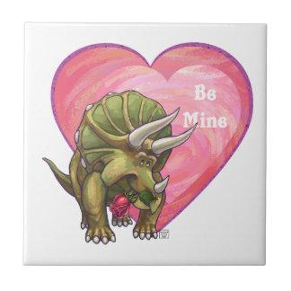 Romantischer Triceratops ist meiner Keramikfliese