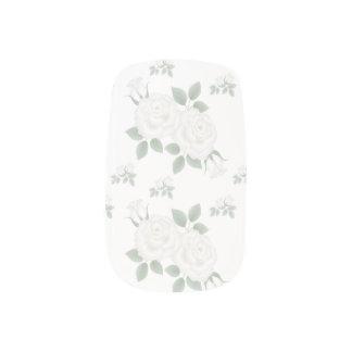 Romantischer viktorianischer weißer Roseminx-Nagel Minx Nagelkunst