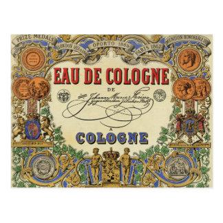 Romantischer Vintager Pariser Parfüm-Aufkleber Postkarten