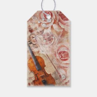 Romantischer Violinen-Satz Geschenk-Umbauten Geschenkanhänger