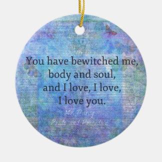 Romantischer Zitat Jane Austens Herr Darcy Keramik Ornament