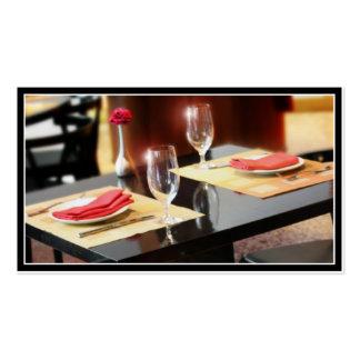 Romantisches Abendessen für zwei Visitenkarten
