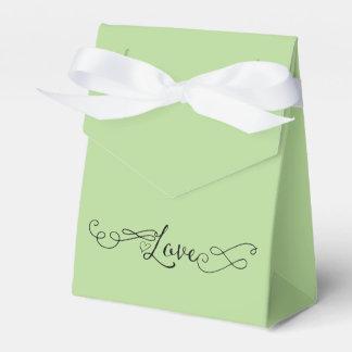 Romantisches apfelgrünes mit Kalligraphie-Liebe Geschenkschachtel