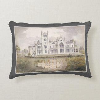 Romantisches Architektur-Aquarell-eleganter Dekor Zierkissen