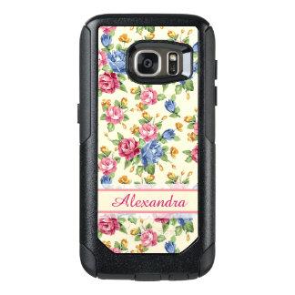 Romantisches Blüte Pastellrosa, Rot, blauer OtterBox Samsung Galaxy S7 Hülle