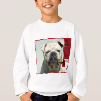 Romantisches Bulldoggen-Sweatshirt Sweatshirt