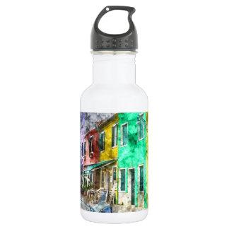 Romantisches Burano Italien nahe Venedig Italien Trinkflasche