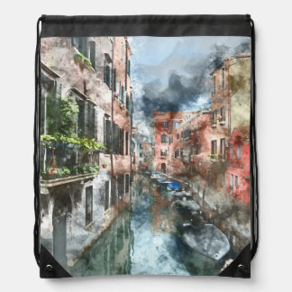 Romantisches Canal Grande Venedigs Italien Sportbeutel