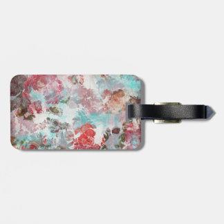 Romantisches Chic-Rosaaquamarines Watercolor-mit Kofferanhänger