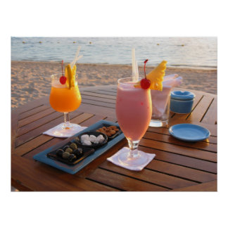 Romantisches Cocktail für Liebhaber Plakatdruck