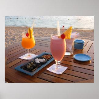 Romantisches Cocktail für Liebhaber Poster