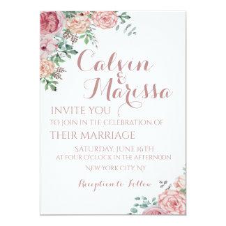Romantisches elegantes Aquarell-rosa mit Karte