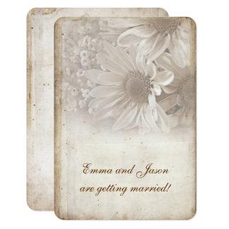 Romantisches Gänseblümchen-Verlobungs-Party laden 8,9 X 12,7 Cm Einladungskarte