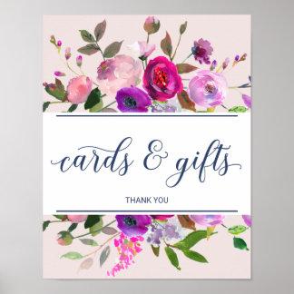 Romantisches Garten-Karten-und Geschenk-Zeichen Poster